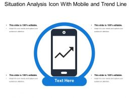 Situation Analysis Icon With Mobile And Trend Line
