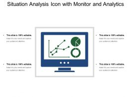 Situation Analysis Icon With Monitor And Analytics