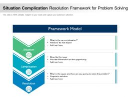 Situation Complication Resolution Framework For Problem Solving