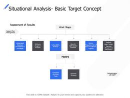 Situational Analysis Basic Target Concept Business Strategy Ppt Powerpoint Presentation Ideas Files