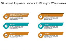 Situational Approach Leadership Strengths Weaknesses Ppt Powerpoint Presentation Icon Templates Cpb