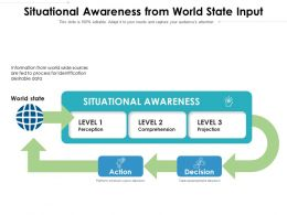 Situational Awareness From World State Input