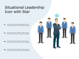 Situational Leadership Icon With Star