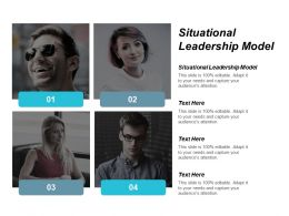 Situational Leadership Model Ppt Powerpoint Presentation Infographic Template Files Cpb