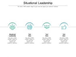 Situational Leadership Ppt Powerpoint Presentation Model Templates Cpb