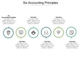 Six Accounting Principles Ppt Powerpoint Presentation Summary Structure Cpb