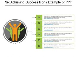 Six Achieving Success Icons Example Of Ppt