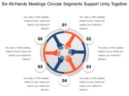 Six All Hands Meetings Circular Segments Support Unity Together