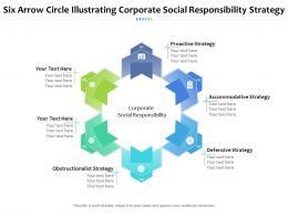 Six Arrow Circle Illustrating Corporate Social Responsibility Strategy