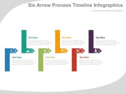 Six Arrow Process Timeline Infographics Flat Powerpoint Design