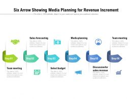 Six Arrow Showing Media Planning For Revenue Increment