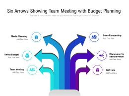 Six Arrows Showing Team Meeting With Budget Planning