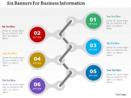 Six Banners For Business Information Flat Powerpoint Design