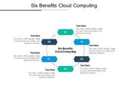 Six Benefits Cloud Computing Ppt Powerpoint Presentation Infographics Professional Cpb