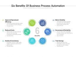 Six Benefits Of Business Process Automation