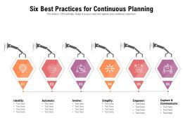 Six Best Practices For Continuous Planning