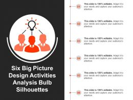Six Big Picture Design Activities Analysis Bulb Silhouettes