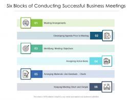 Six Blocks Of Conducting Successful Business Meetings