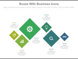 Six Boxes With Business Icons Powerpoint Slides