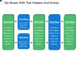 Six Boxes With Text Holders And Arrows