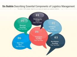 Six Bubble Describing Essential Components Of Logistics Management
