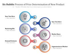 Six Bubble Process Of Price Determination Of New Product