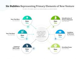 Six Bubbles Representing Primary Elements Of New Venture
