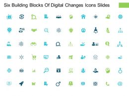 Six Building Blocks Of Digital Changes Icons Slides Opportunity L7 Ppt Powerpoint Deck