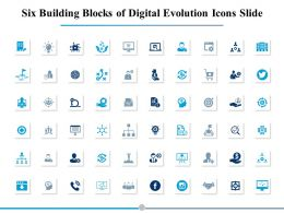 Six Building Blocks Of Digital Evolution Icons Slide Management Process