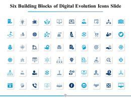 Six Building Blocks Of Digital Evolution Icons Slide Management Process