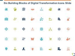 Six Building Blocks Of Digital Transformation Icons Slide Growth L17 Ppt Powerpoint Show