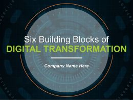 Six Building Blocks Of Digital Transformation Powerpoint Presentation Slides