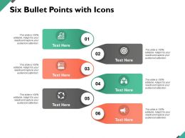 Six Bullet Points With Icons