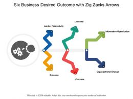 Six Business Desired Outcome With Zig Zacks Arrows