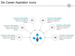 Six Career Aspiration Icons 6 Powerpoint Slide Show