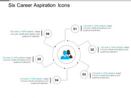 Six Career Aspiration Icons Powerpoint Slide Show