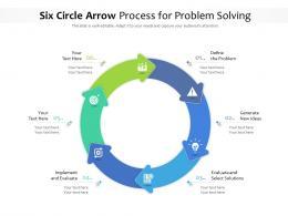 Six Circle Arrow Process For Problem Solving