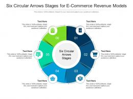 Six Circular Arrows Stages For E Commerce Revenue Models Infographic Template