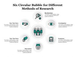 Six Circular Bubble For Different Methods Of Research