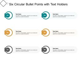 Six Circular Bullet Points With Text Holders