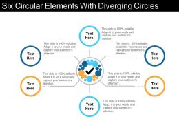 Six Circular Elements With Diverging Circles