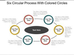 Six Circular Process With Colored Circles