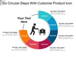 Six Circular Steps With Customer Product Icon