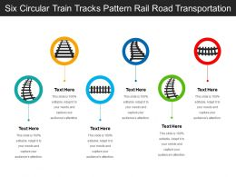 Six Circular Train Tracks Pattern Rail Road Transportation