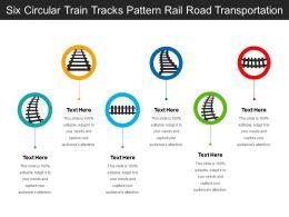 Six Circular Train Tracks Pattern Rail Road Transportation