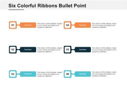 Six Colorful Ribbons Bullet Point