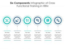 Six Components Of Cross Functional Training In HRM Infographic Template