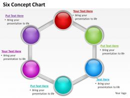 six concept chart powerpoint diagrams presentation slides graphics 0912