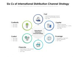 Six Cs Of International Distribution Channel Strategy