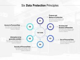 Six Data Protection Principles